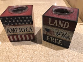 Candle holders patriotic