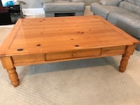 rectangular brown wooden coffee table Yardley, 19067
