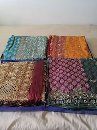 4 stone work wedding Sarees Ottawa, K2J 4E2