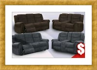 Grey or chocolate recliner set free delivery  Alexandria, 22305