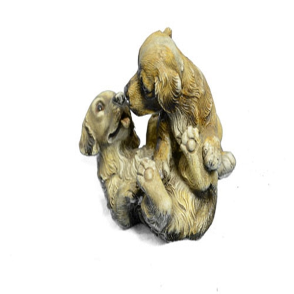 Two Puppy Labrador Playing Bronze Sculpture (4X5 Inches) a21651b3-9f47-4930-b5cc-63aa91fb0af4
