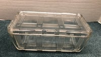 Vintage Glass Ribbed Loaf Container with Lid Lehighton, 18235