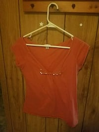 women's red scoop-neck shirt Golden Valley, 86413