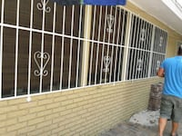 white wrought window grille Tampa, 33614