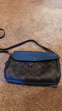 black and blue Coach monogram hobo bag Lafayette, 94549