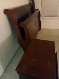 brown wooden desk with chair Raleigh, 27616