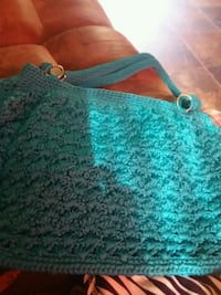 women's teal knitted tote bag Ruston, 71270