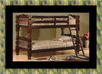 Twin wooden bunkbed frame Capitol Heights, 20743