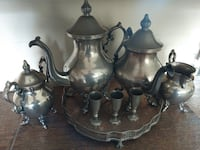 Antique silver plated tea set and more GERMANTOWN
