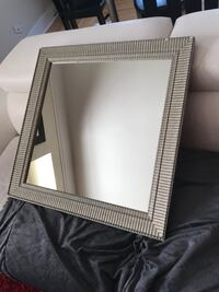 Rectangular white wooden framed mirror New Westminster, V3M 2Y8