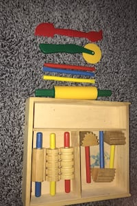 Wooden Play Dough Tools +