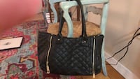 Quilted black leather 2-way handbag Bethesda, 20814