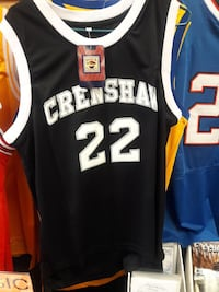 white and black Crenshan 22 basketball jersey Nashville, 37013