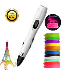 New 3D Printing Pen, Professional 3D Doodler Drawing Pen with Led Display, Packed 12 Color PLA Filament Refills, Safe and Easy to Use 3D Writing Pens for Kids and Adults Farmers Branch, 75244