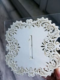 1-20 Laser cut table numbers (ivory, gold) Toronto, M9W 6T3