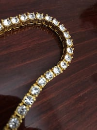 Real Gold plated with CZ Diamonds Vaughan, L4K