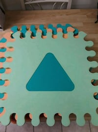 10 soft puzzle tiles with shapes West Islip