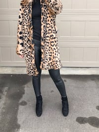 Rabbit fur coat in Leopard pattern Toronto, M1S