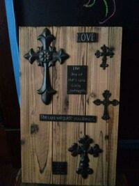 brown and black wooden wall decor 392 mi