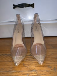 Nude/Clear Perspex/Clear Heels/Stilettos Size 6.5 Brampton
