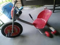 red and gray Razor trike