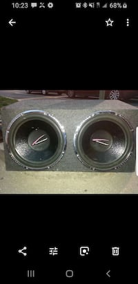 "2. 15"" subwoofers in box Baltimore, 21224"