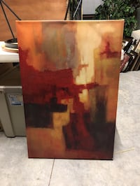 Red/brown abstract canvas Lubbock, 79423