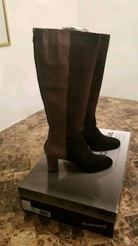 Black Espresso Taupe Knee high boots- size 9.5 New Gaithersburg, 20879