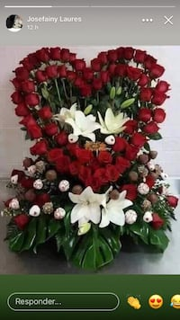 red and white flower wreath Cypress, 90630