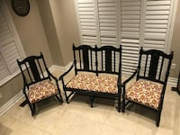 Very beautiful classic set of three bench and two chairs. Brampton