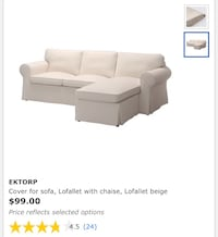 SOFA COVER: Ektorp with Chaise Wilmington, 28405