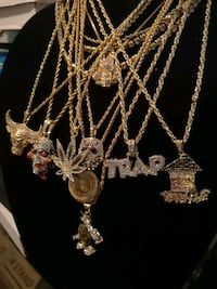 18k gold plated chain and pendant sets various Halifax