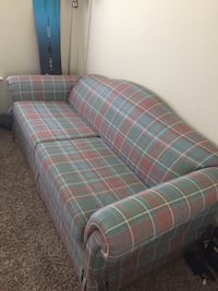 blue and red plaid fabric sofa Houston, 77450