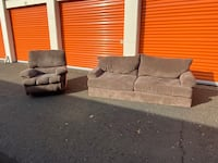 Soft tone sofa and recliner (DELIVERY INCLUDED