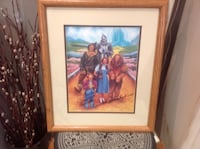 Framed genuine wizard of oz poster signed by Mickey Carroll the last munchkin. Authenticity certificate included. Selden, 11784
