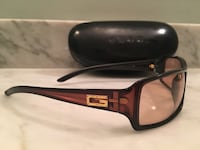 Black frame Gucci sunglasses