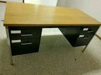 brown wooden single pedestal desk Edmonton, T6L 6L2