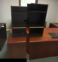 black flat screen TV with brown wooden TV stand Colonia, 07067