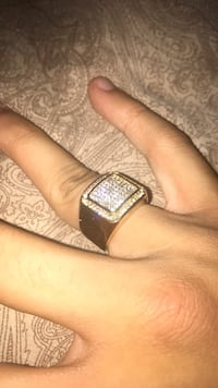 Gold plated iced out ring size 8 Toronto, M2J 3K4