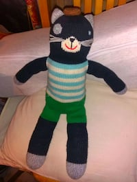 Cat Sock Teddy Stuffie Black Kitty  Vancouver, V6B