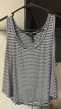 black and white striped crop top Doral, 33172