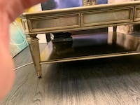 Metallic finished wood framed glass top coffee table Las Vegas, 89178