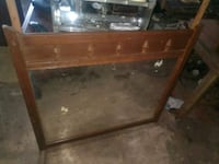 brown wooden framed glass top table Oklahoma City, 73149