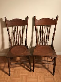 Antique Leather Inset Chairs  Pearland