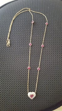 14k gold and ruby necklace Manassas