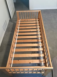 Toddler Bed and Mattress. Good Condition. Mattress has no rips or stains. Chilliwack, V2P 2J7