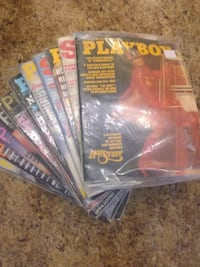 12 Vintage PLAYBOY, PENTHOUSE & SWANK reading material. Sold together.