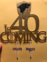 40 is Coming Cake Topper, GOT Cake Topper East Meadow, 11554