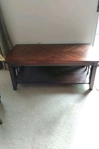 brown wooden 2-layer coffee table 541 km