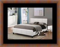White platform bed with mattress and box Temple Hills